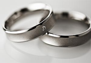 Strieborne svadobne prstene
