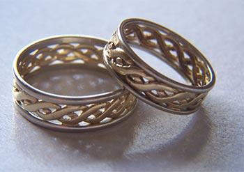 Moderne svadobne prstene