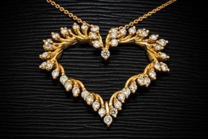 Zlaty nahrdelnik - srdce